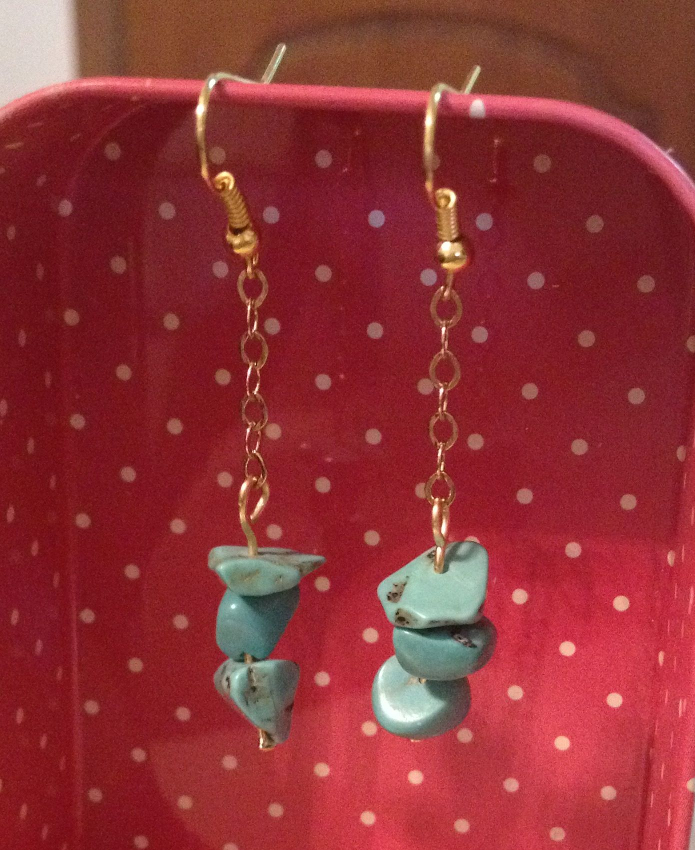 Turquoise and chain earrings my creations pinterest chain