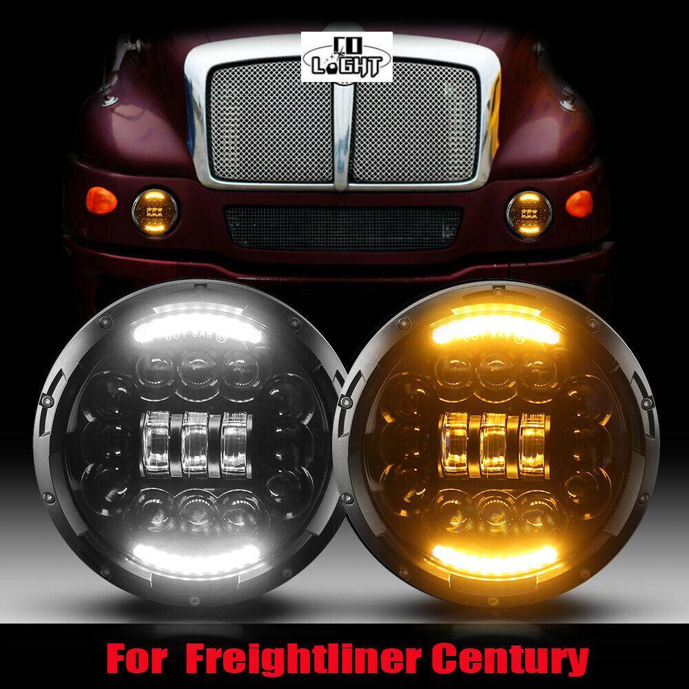 Ebay Sponsored 180w 7inch Led Projector Headlight For Pre 2005 Model Freightliner Century Light Led Projector Projector Headlights Freightliner