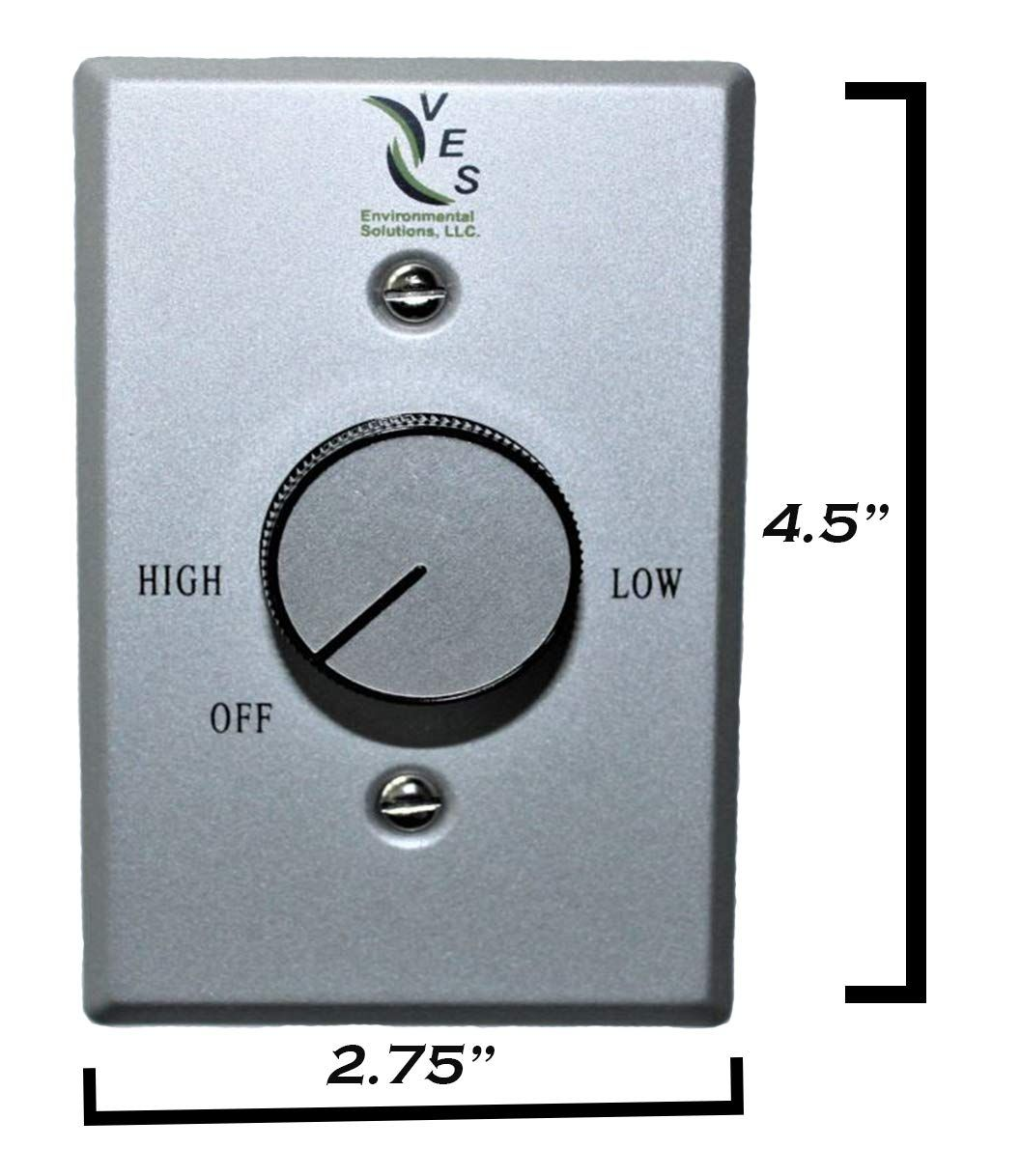 ves ceiling controls variable speed fan black white small plug in
