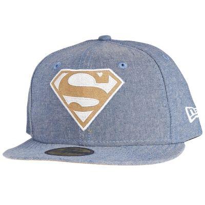 New Era 59Fifty Cap - CHAMSUEDE SUPERMAN denim