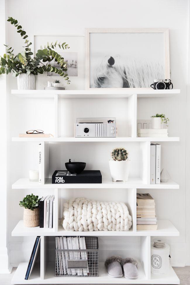 Shelves White Open Styling A Shelf