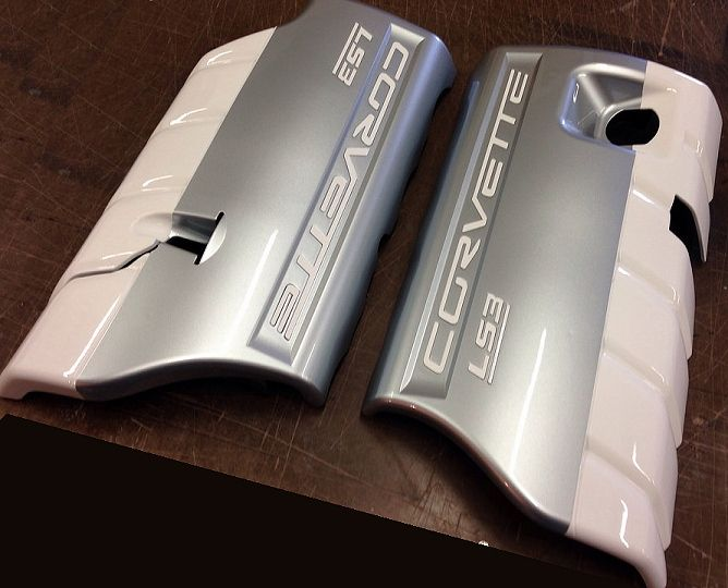 C6 427 60th Painted Fuel Rail Covers Ls3 Ls7 Rail Cover 60th Anniversary Motorcycle Women