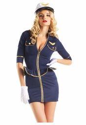 Airline Pilot Costume  sc 1 st  Pinterest & Airline Pilot Costume | Adult CostumesLingerie and Swimwear ...