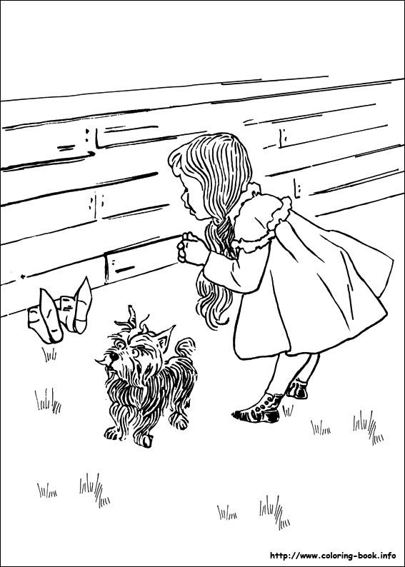 The Wizard Of Oz Coloring Picture Coloring Pages Wizard Of Oz Coloring Books