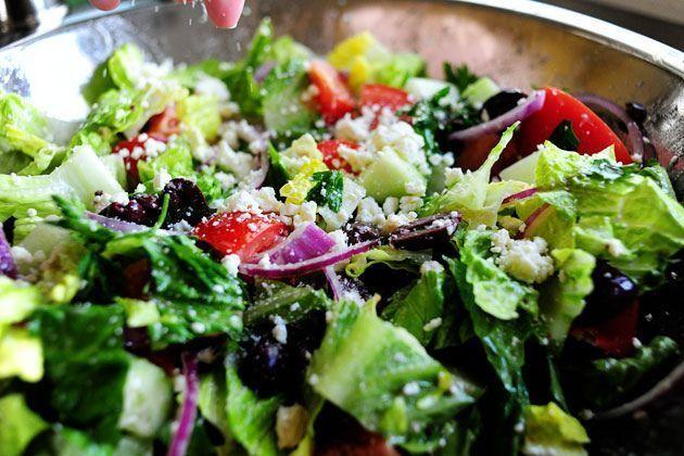 Greek Salad Greek Salad with Olive Dressing by Ree Drummond / The Pioneer Woman, via Flickr - pioneer-woman - #Drummond #Flickr #Griec ...#dressing #drummond #flickr #greek #griec #olive #pioneer #pioneerwoman #ree #salad #woman