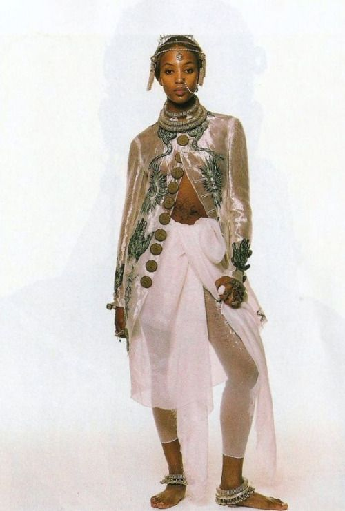 """Jean Paul Gaultier"", Vogue US, March 1994. Photographer : Steven Meisel. Model : Naomi Campbell."