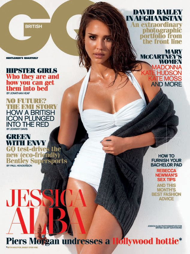 Jessica alba strip for gq