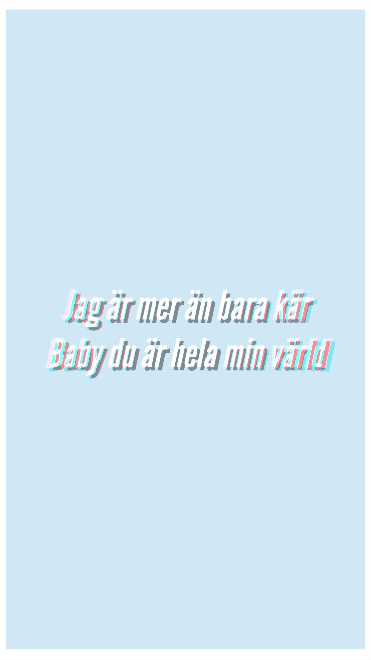 Hov1 Quote Lyric Vi Var Backrundsbild Citat Fran Sanger Instagram Citat Citat Om Honom