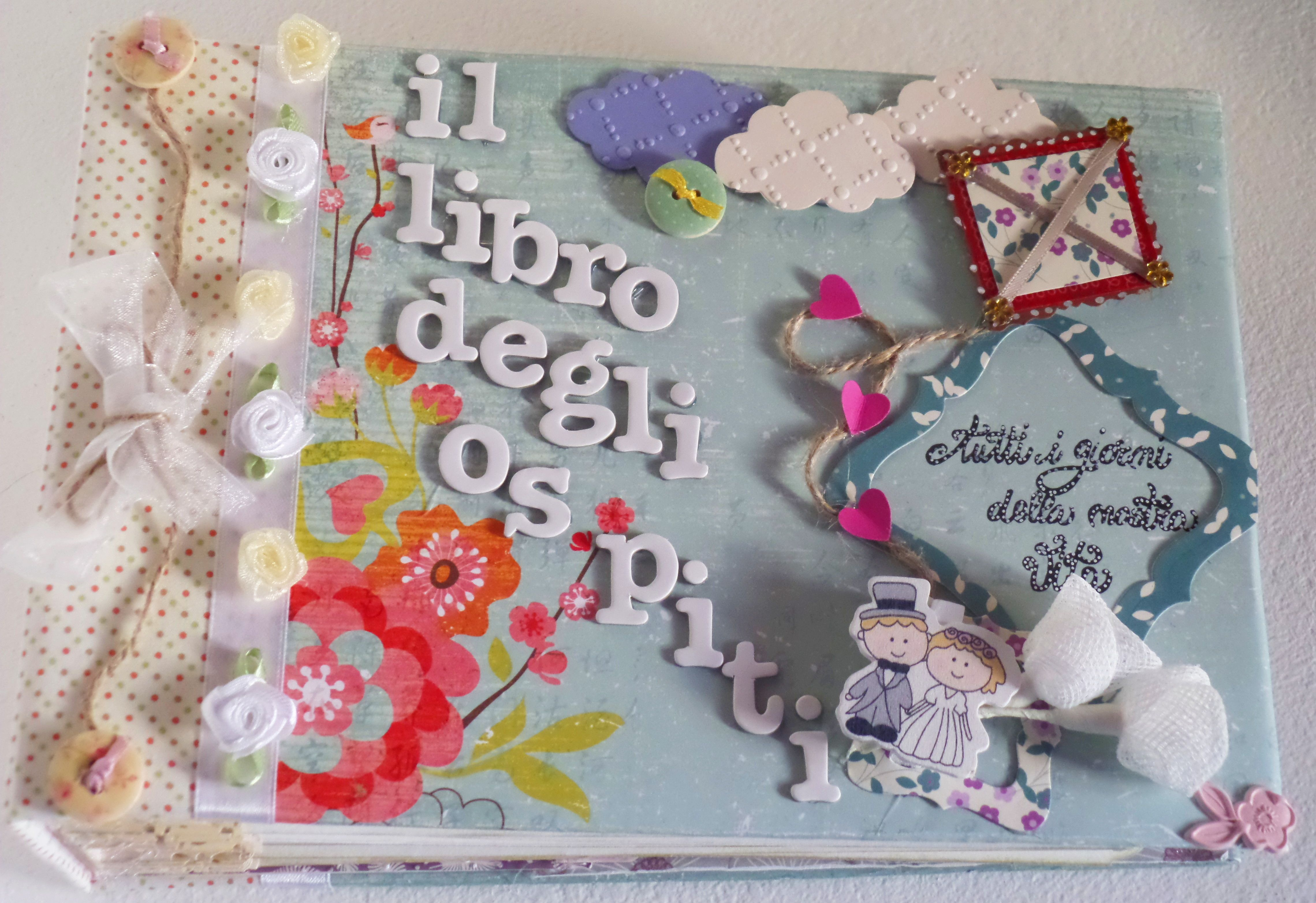 Scrapbooking Wedding Guestbook and box http://on.fb.me/1pnFVNp
