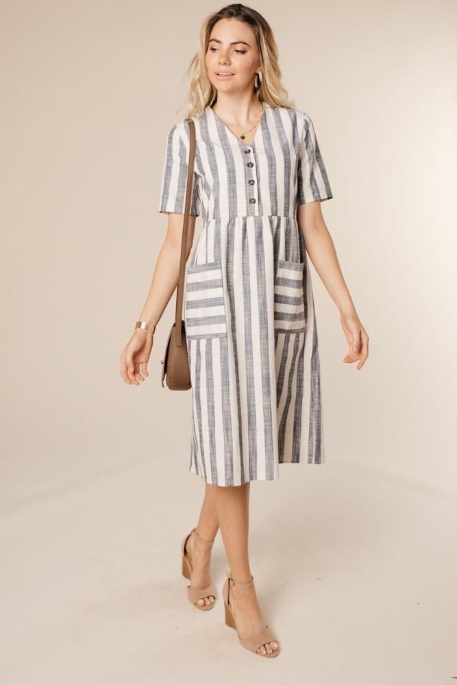 9fac918448d2d0 Avenue Striped Dress in 2019 | Shopping | Striped dress, Dresses, Shirts