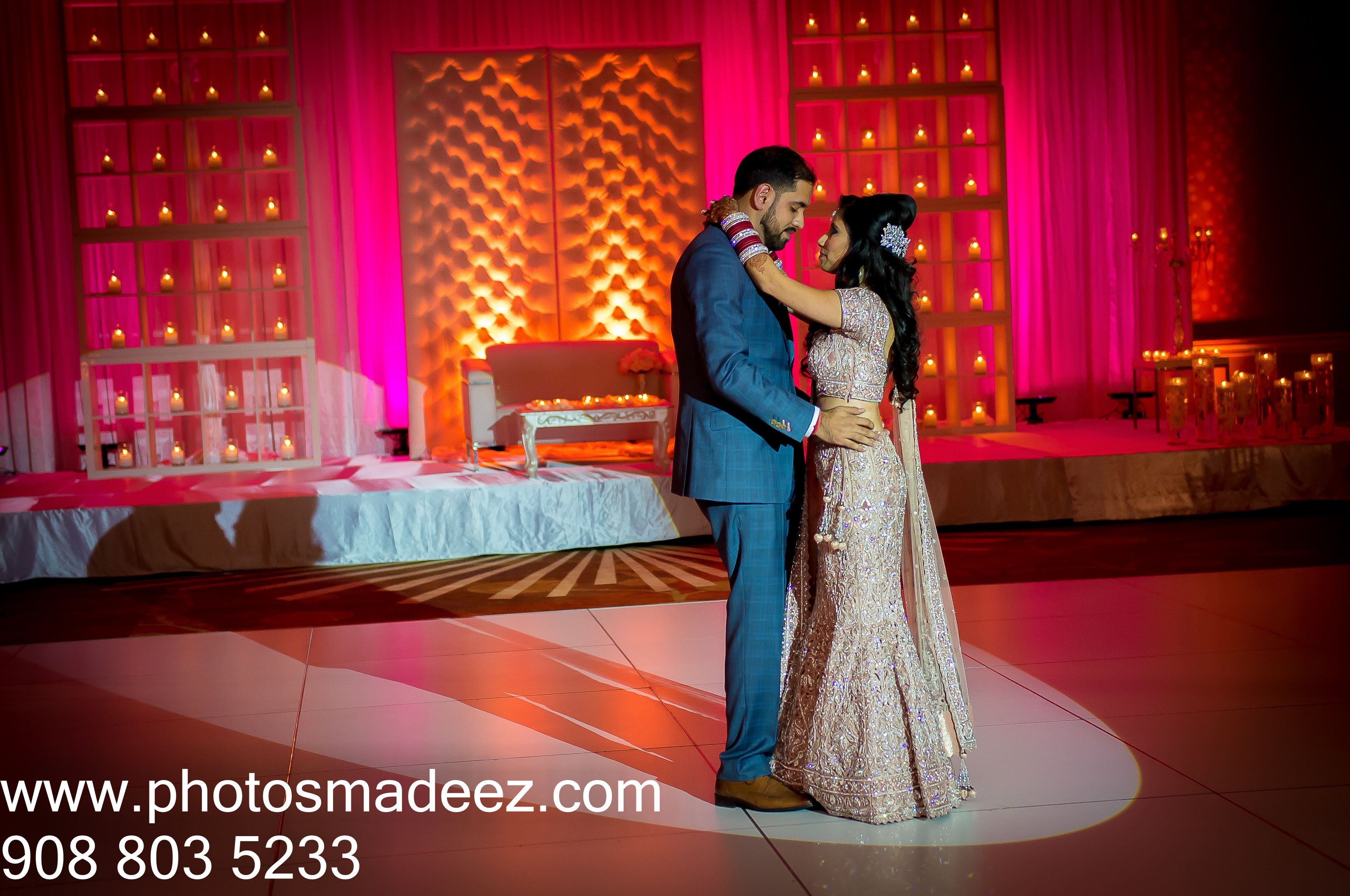 Wedding Reception photo - First Dance for a mixed Wedding at hyatt regency, hauppague in Long Island, NY. With DJ USA. Afghani Bride and Punjabi Groom. Best Wedding Photographer in Long Island, PhotosMadeEz