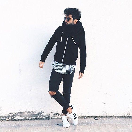 Adidas Superstar Black Fashion Men