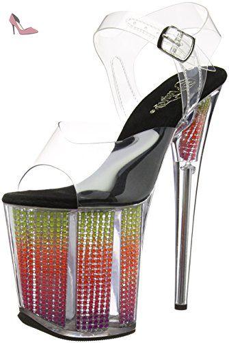 Chaussures Pleaser Flamingo transparentes femme CuoTt