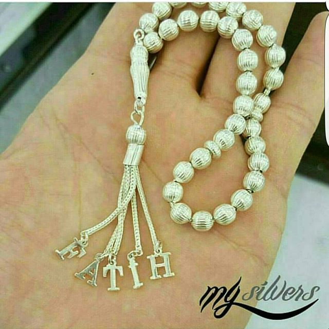 Photo of Our Name Silver Rosary Rosary 110 TL Number of Letters 15 TL Wh …