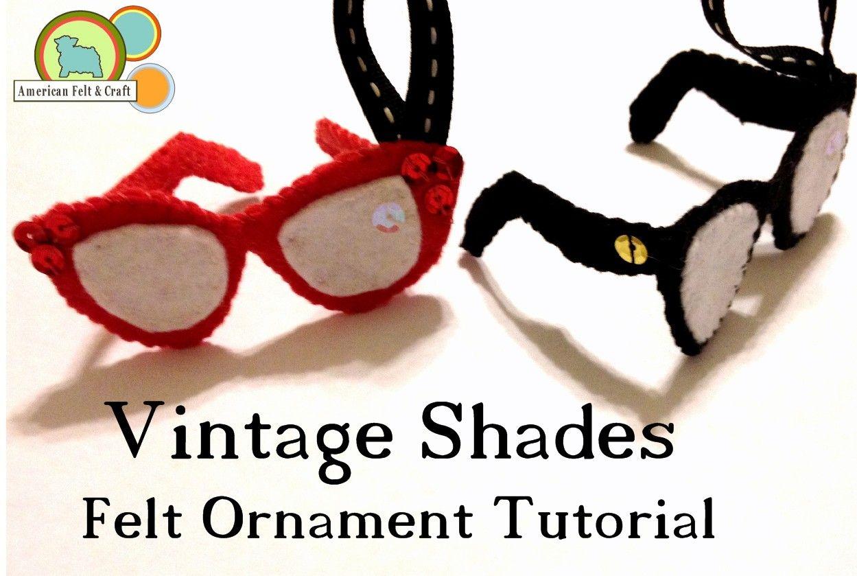 Vintage eye glasses Felt Christmas Ornament – Hipster Week