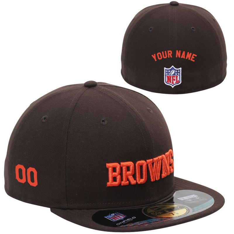 accc997c13f New Era Cleveland Browns Historic Logo Men s Customized On-Field 59FIFTY  Football Structured Fitted Hat