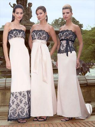 Alexia Designs Satin Bridesmaid Dress with Lace Bodice and Sash 2806 #lacebridesmaids