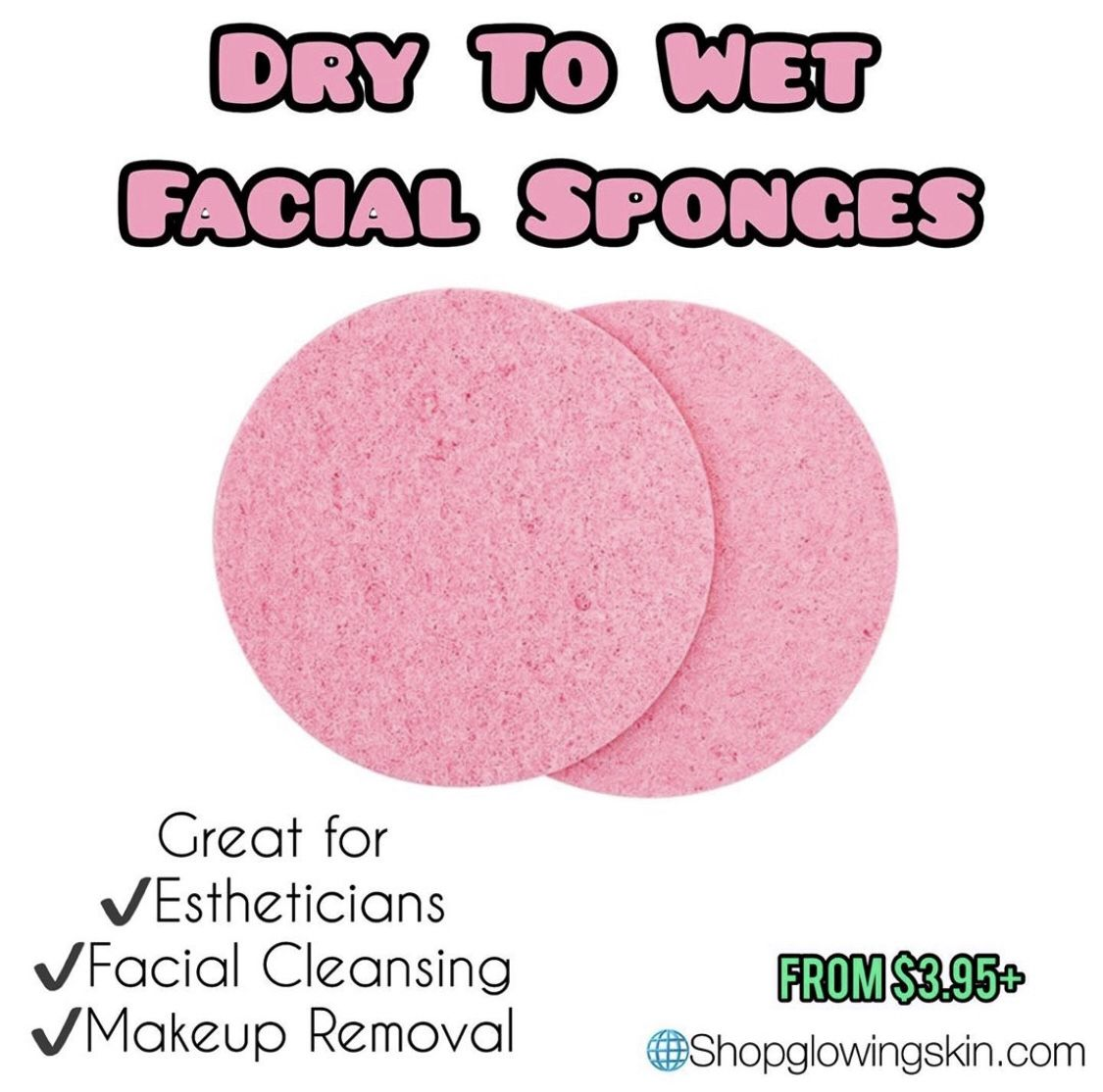 Compressed Face Sponges (65,000) PACK Makeup remover