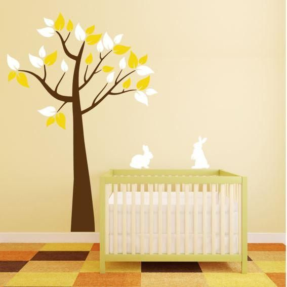 Tree Wall Decal with Bunnies for Children\'s Room | Wall decals, Room ...