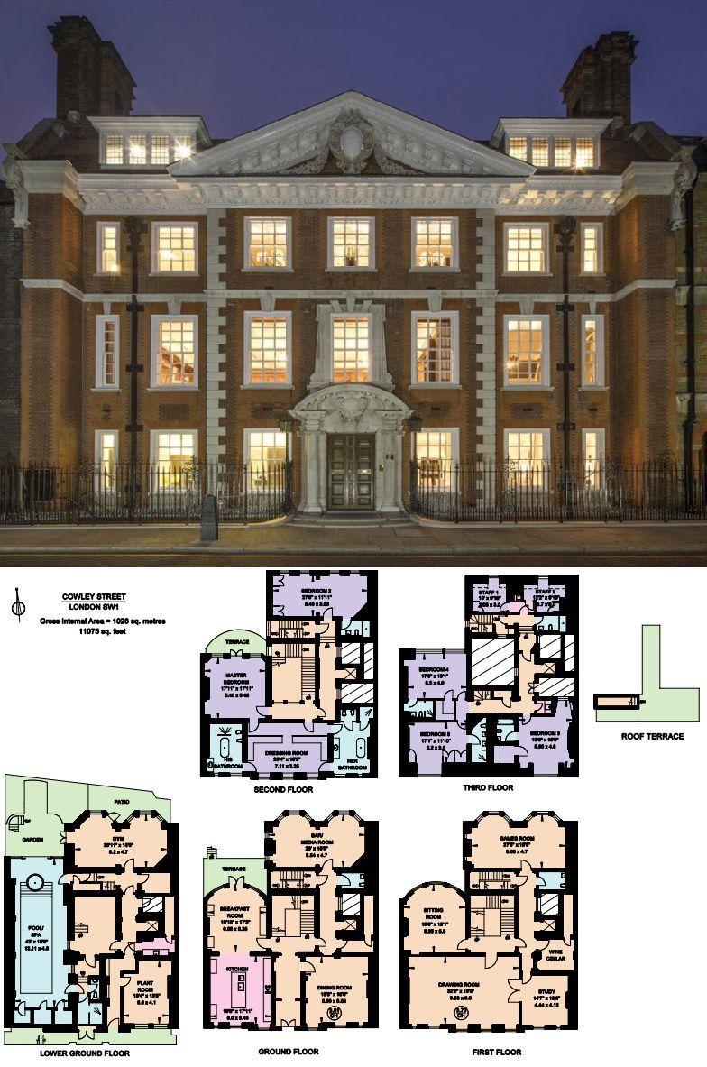 36 Million Historic Brick Mansion In London England Mansions Mansion Floor Plan Mansion Plans