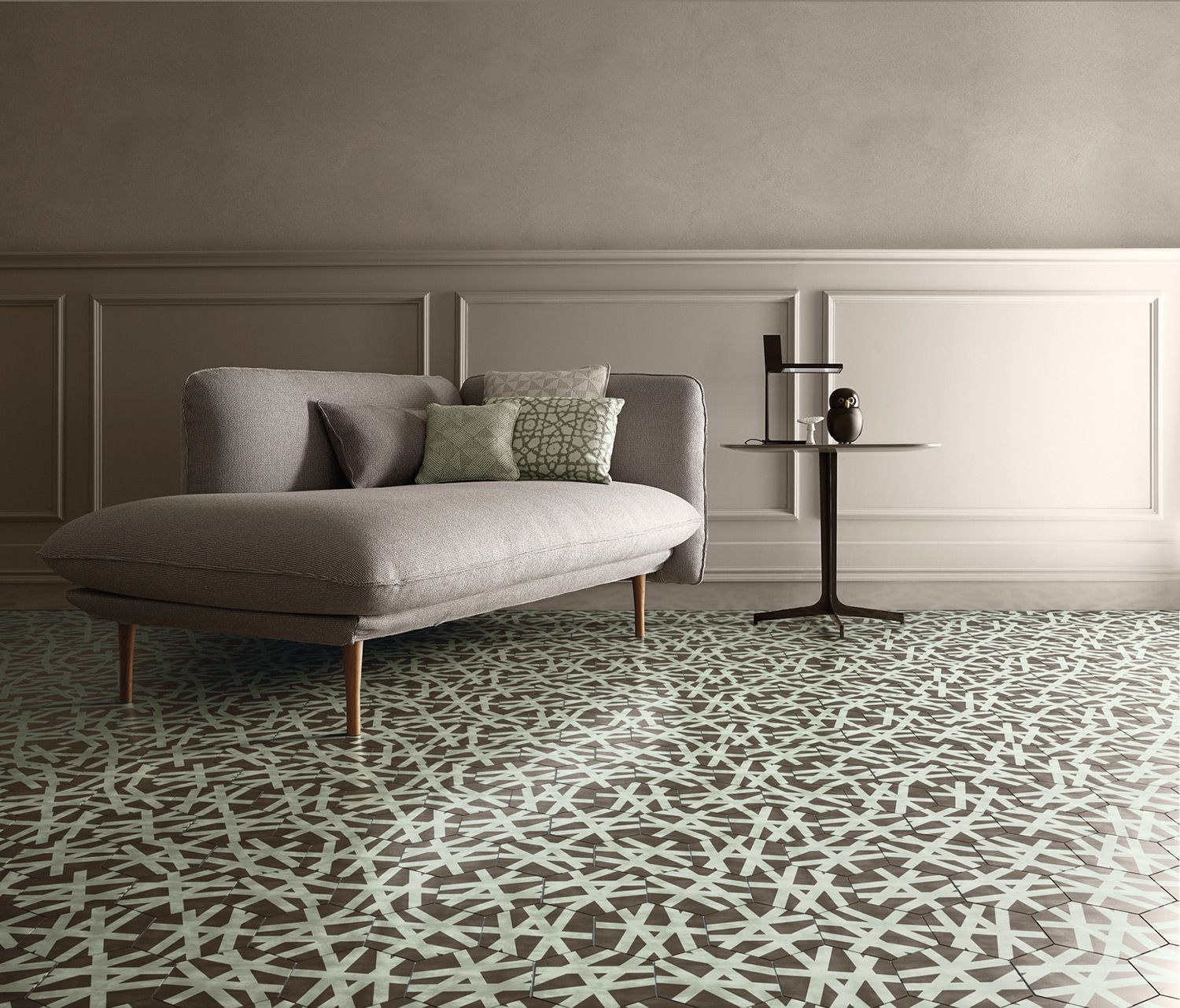Wire: designed by Paola Navone for the Bisazza Contemporary Cement ...