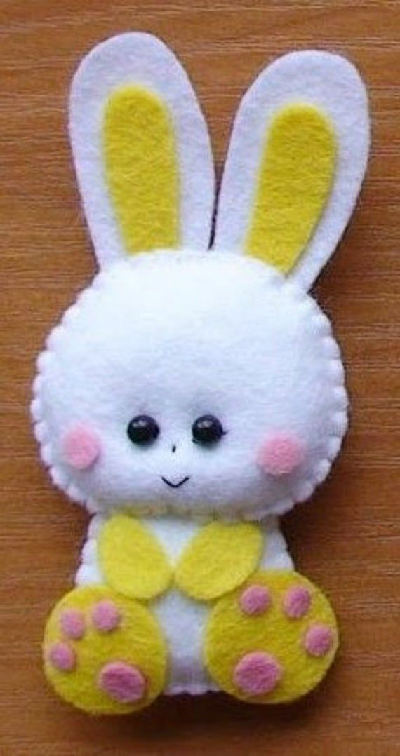Felt bunny ornaments handmade felt bunny felt ornaments Easter rabbit Housewarming/Easter home decor Baby shower eco friendly Christmas gift