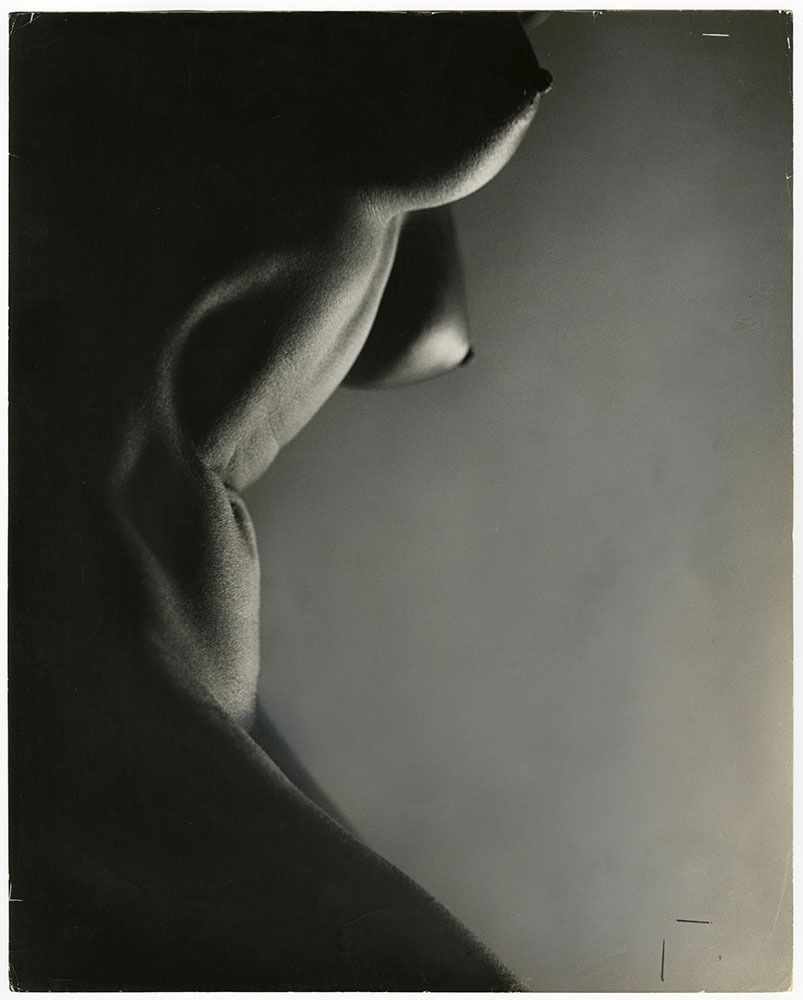 Dramatic Nude Figure Study Vintage Erotica Peter Basch Light & Shadow  Photograph