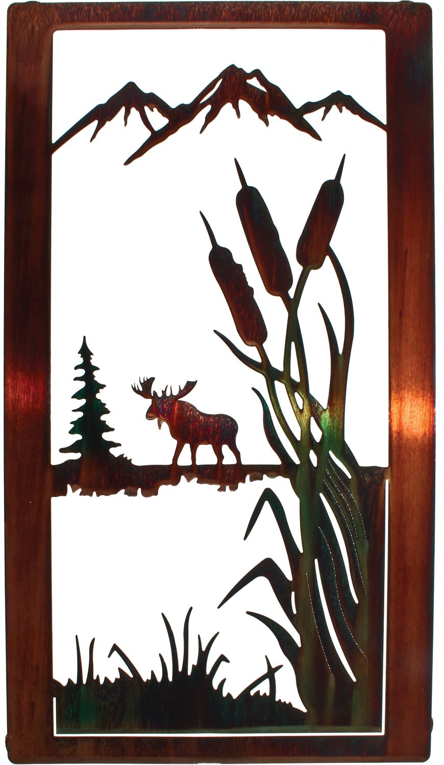images about moose wall art on pinterest wolves deer and products: tree scene metal wall art