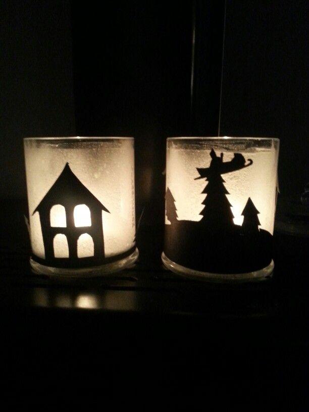 Christmas glasshouse candle jars! #re-use