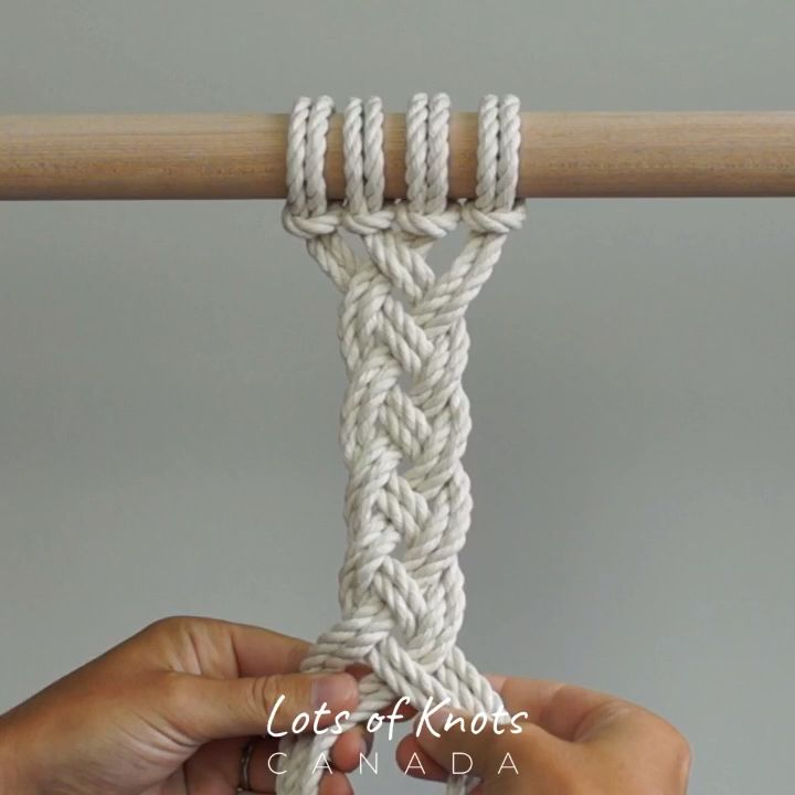 DIY Macrame Tutorial - Continuous Weave Method 1 - YouTube #weaving