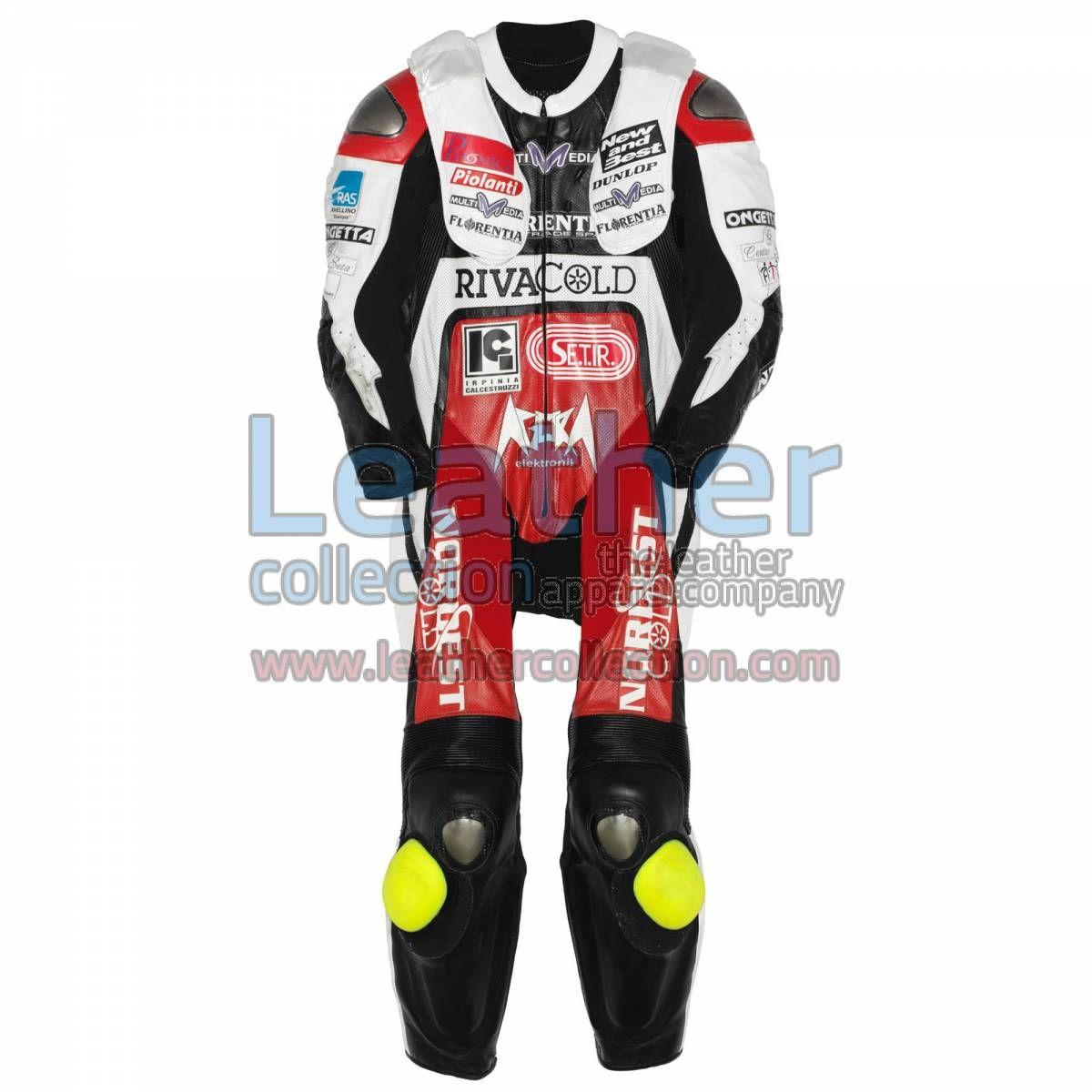 Simone Grotzkyj Giorgi Aprilia GP 2007 Leathers for $719.20 - https://www.leathercollection.com/en-we/simone-grotzkyj-giorgi-aprilia-leathers.html