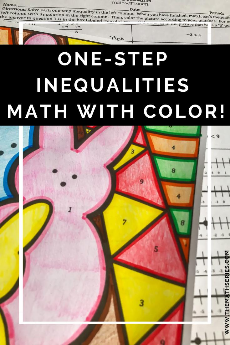 One Step Inequalities Activity Inequalities Activities Easter Math Color Activities [ 1102 x 735 Pixel ]