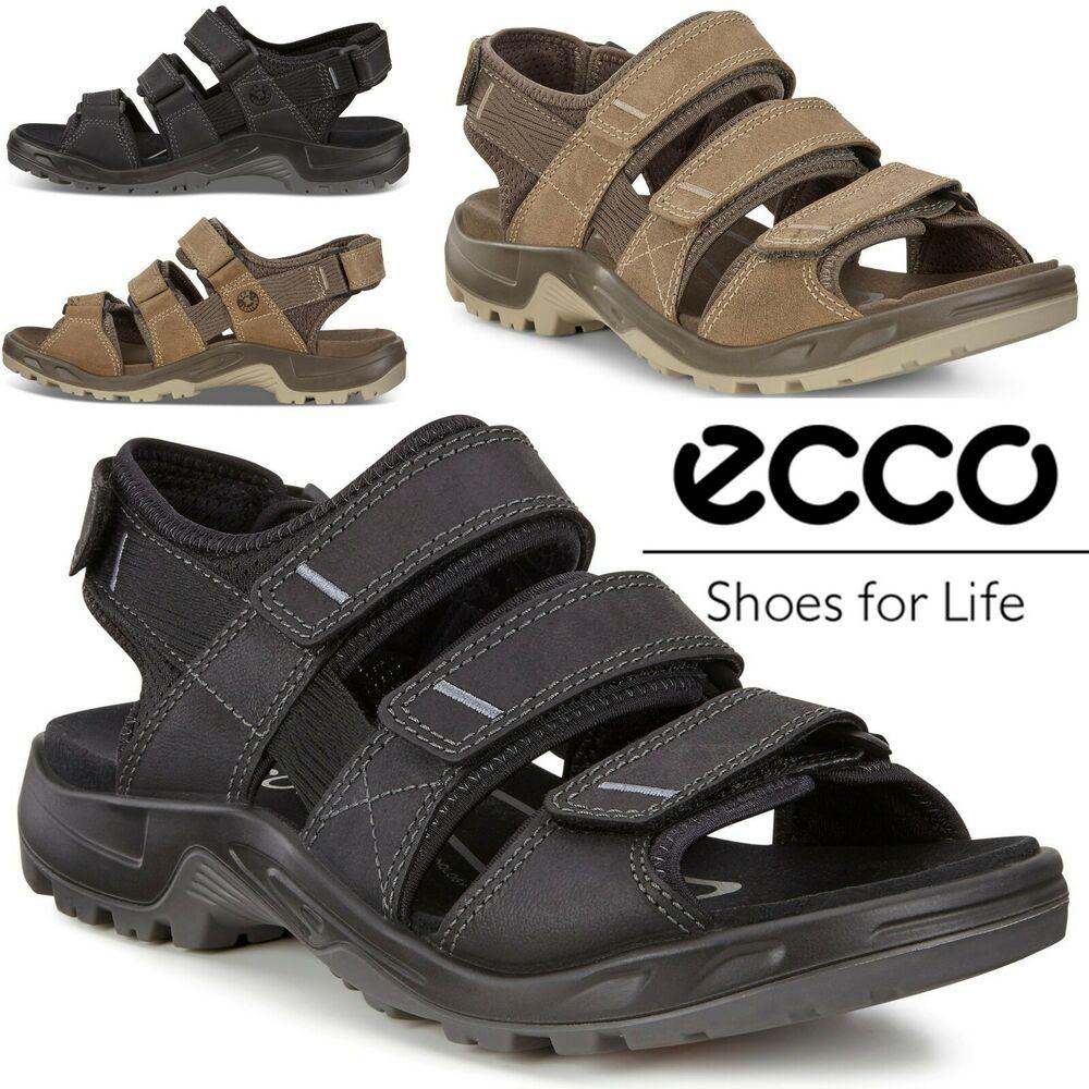 Ecco Offroad Yucatan Antelope Yak Leather Hiking Outdoor All Terrain Sandals Ecco Sandals Hiking Shoes Mens Sneakers Men Fashion Waterproof Hiking Shoes