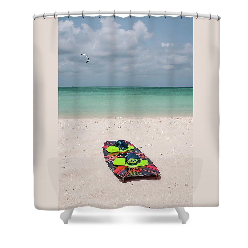 Kite Surf Board Shower Curtain For Sale By Brandi Nellis In 2020 Surfboard Beach Photography Shower Curtain Rings