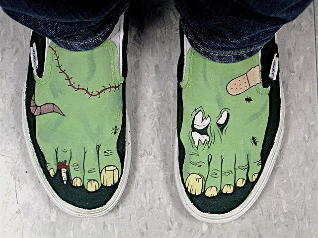 zombie feet | SHOES | Painted shoes, Hand painted shoes, Shoes