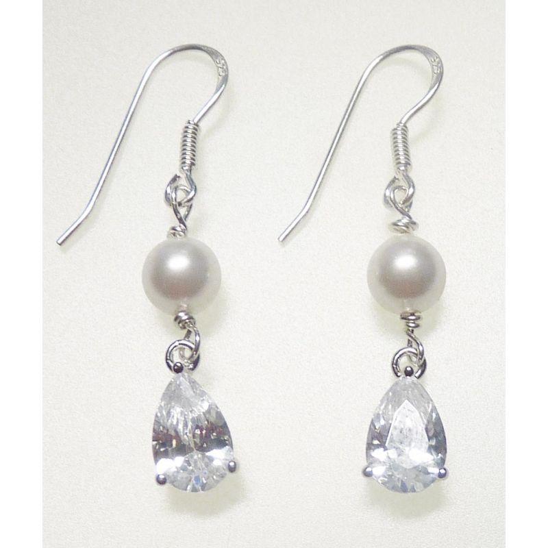 Brautschmuck ohrringe perlen  Brautschmuck Echtsilber mit Perlen und Zirkonia | Allerlei ...