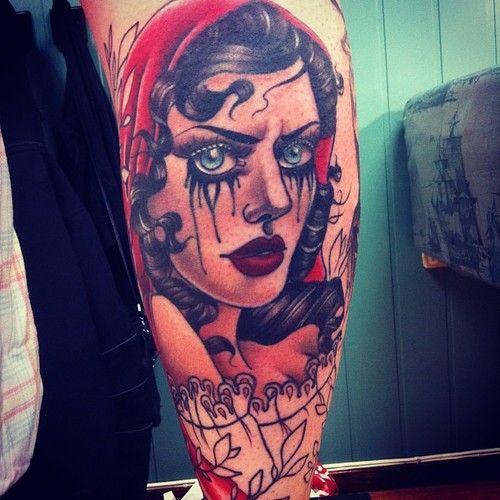 #redridinghood #tattoo #neotraditional #inprogress