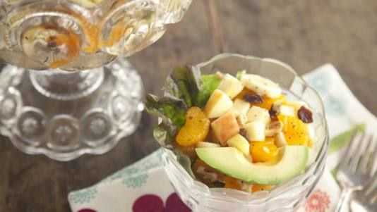 Fruit Salad with Honey Dressingn in a New Light