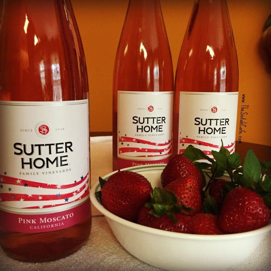 Strawberry Mint Moscato Spritzer Sutterhome Fruity Drinks Moscato Drinks Strawberry Mint