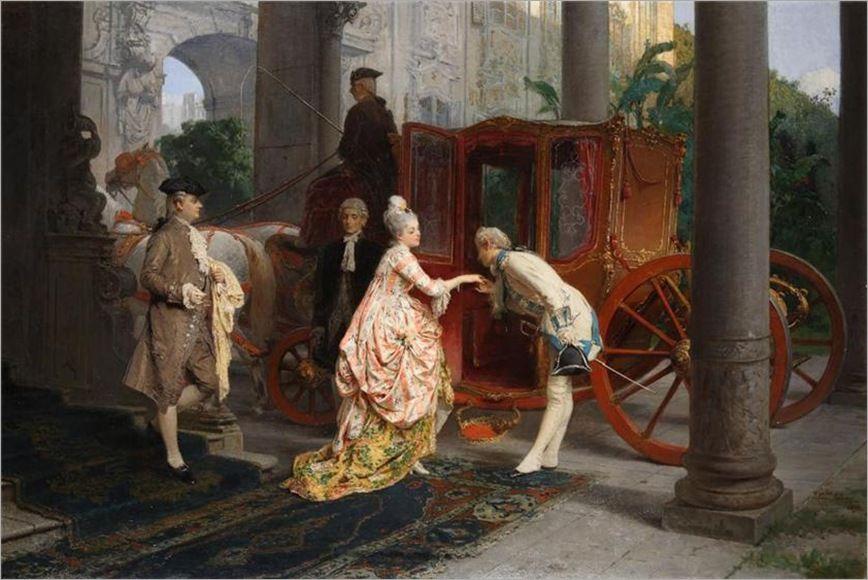 Gerolamo Induno  the kiss on the hand, 1877