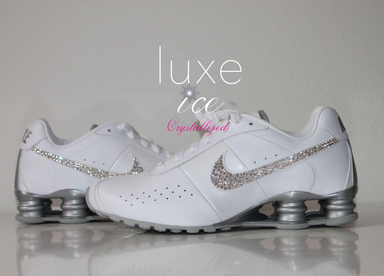 NIKE Shox Classic II White White Metallic Silver by luxeice f84ac41ec1