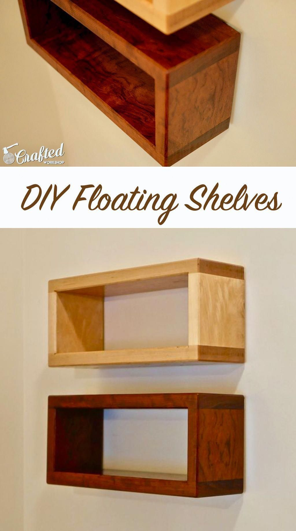 how to build a diy floating shelf which can be built with only a rh pinterest com