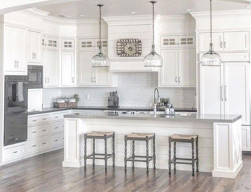 48 Stylish White Kitchen Cabinets Decor Ideas images