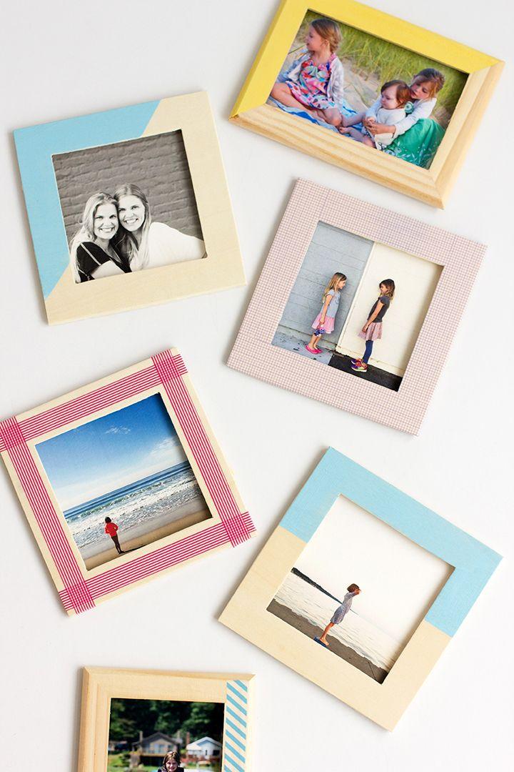 DIY Washi Tape Wood Frames   Diy deko, Deko und Basteln