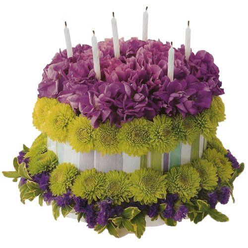 birthday cake floral arrangement Birthday Flowers Fancy Floral