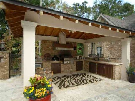 Great summer kitchen outdoor living entertaining for Summer kitchen plans