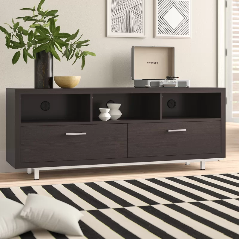 Bowdon Tv Stand For Tvs Up To 65 In 2020 Modern Tv Stand Decor Tv Stand Bedroom Tv Stand