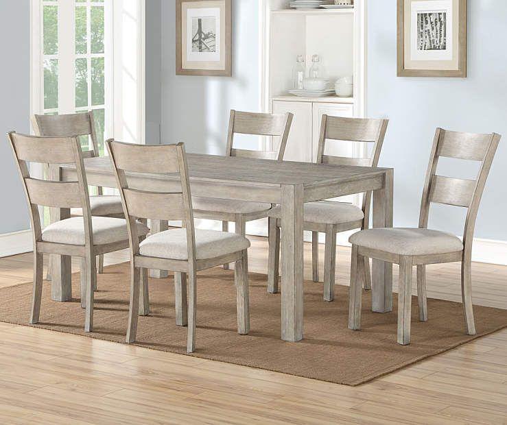 Stratford Hayden Gray 7 Piece Dining Set Big Lots Dining Room Sets Grey Dining Tables Dining Table Chairs