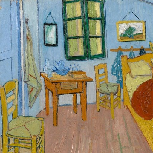 De Slaapkamer | The Bedroom, Arles, October 1888 - Vincent Van