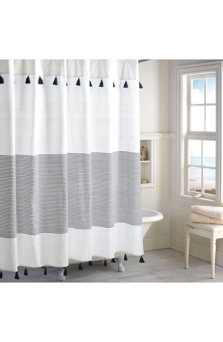 Peri Home Panama Stripe Shower Curtain Striped Shower Curtains